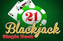 Игровой 777 автомат Single Deck Blackjack Professional Series